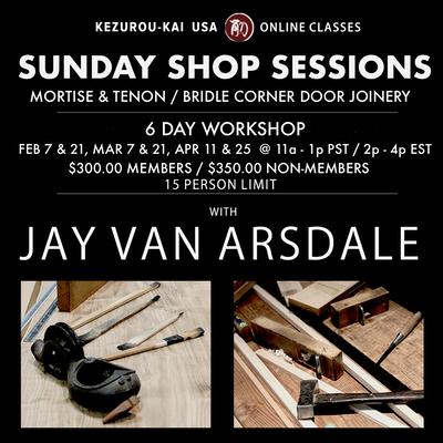 Sunday Shop Sessions - Feb 7 & 21, Mar 7 & 21, Apr 11 & 25, 2021