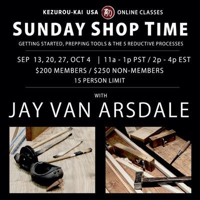 Sunday Shop Time 4-week course - September 13, 20, 27 & October 4, 2020