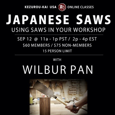 Using Japanese Saws in Your Workshop - September 12, 2020