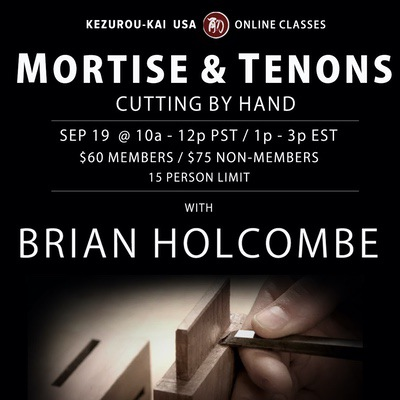 Mortise and Tenons by Hand - September 19, 2020