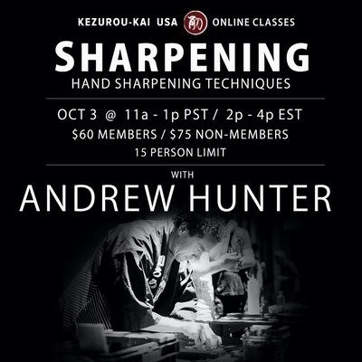 Sharpening - October 3, 2020