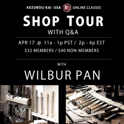 Japanese tools in a Western workshop: Shop Tour and Q&A - Wilbur Pan - April 17
